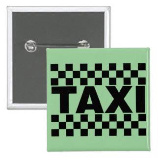 Taxi ~ Taxi Cab ~ Car For Hire 2 Inch Square Button