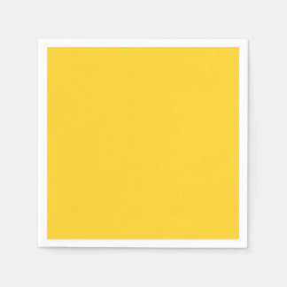 Taxi Yellow Acid Lemon Yellow Uptown Girl Designer Paper Napkins