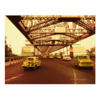 Taxi's on a Bridge Postcard