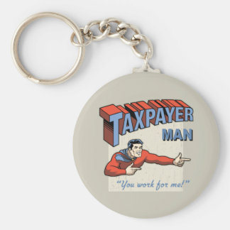 Taxpayer Man Keychain
