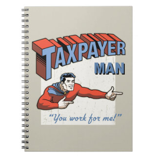 Taxpayer Man Notebooks