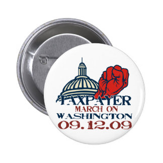 taxpayer march revised design 2 inch round button