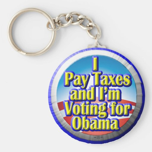 Taxpayers for Obama Key Chain