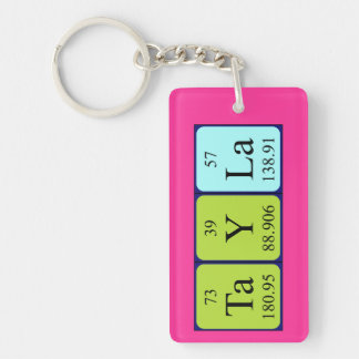 Tayla periodic table name keyring