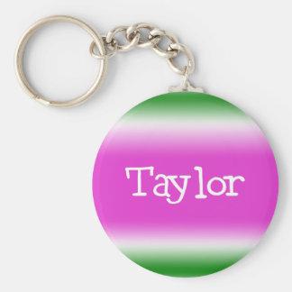 Taylor Basic Round Button Keychain