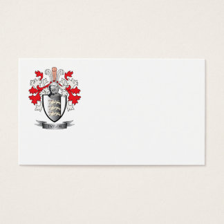 Taylor Coat of Arms Business Card