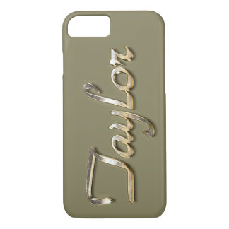 """Taylor"" Custom Monogram iPhone 7 Case"