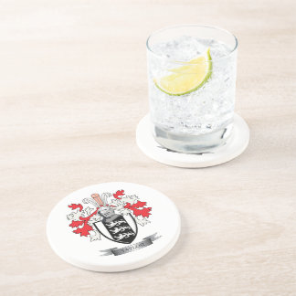 Taylor Family Crest Coat of Arms Coaster