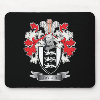 Taylor Family Crest Coat of Arms Mouse Pad