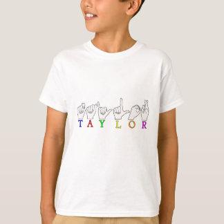 TAYLOR NAME FINGERSPELLED ASL SIGN T-Shirt