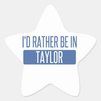 Taylor Star Sticker
