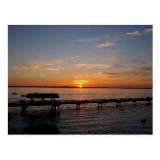 Taylor Street Dock Sunset Postcard