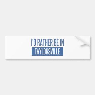Taylorsville Bumper Sticker