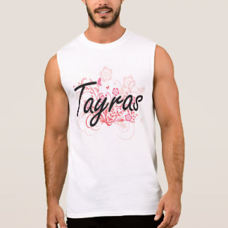 Tayras with flowers background sleeveless t-shirt