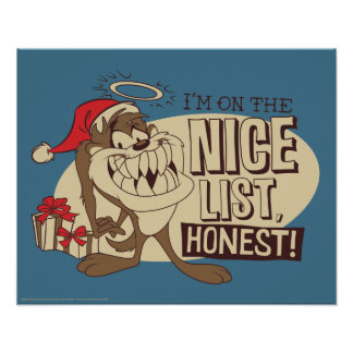 TAZ™- I'm On The Nice List Poster