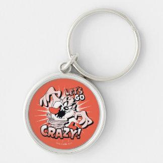 """TAZ™ """"Let's Go Crazy!"""" Halftone Keychain"""
