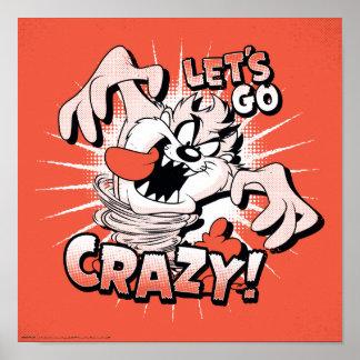"TAZ™ ""Let's Go Crazy!"" Halftone Poster"