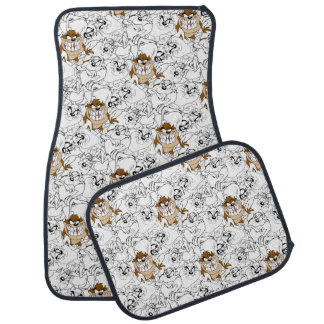 TAZ™ Line Art Color Pop Pattern Car Mat