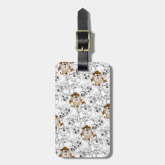 TAZ™ Line Art Color Pop Pattern Luggage Tag