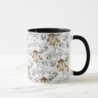 TAZ™ Line Art Color Pop Pattern Mug