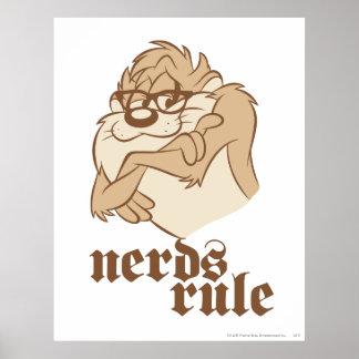 TAZ™ - Nerds Rule Poster