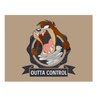 TAZ™ Outta Control Postcard