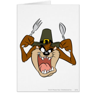 TAZ™ Pilgrim Thanksgiving in Color Greeting Card