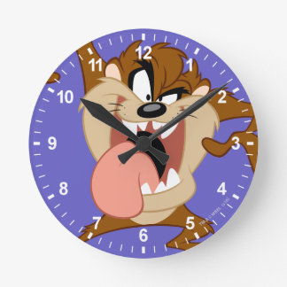 TAZ™ | Sticking His Tongue Out Round Clock