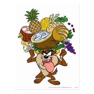 TAZ™ Thanksgiving Feast B/W 2 Postcard