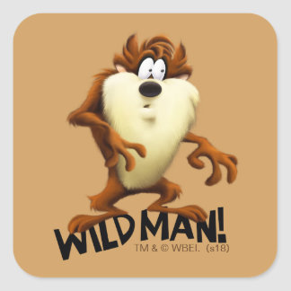 TAZ™- Wild Man Square Sticker