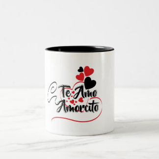 Taza te amo Two-Tone coffee mug