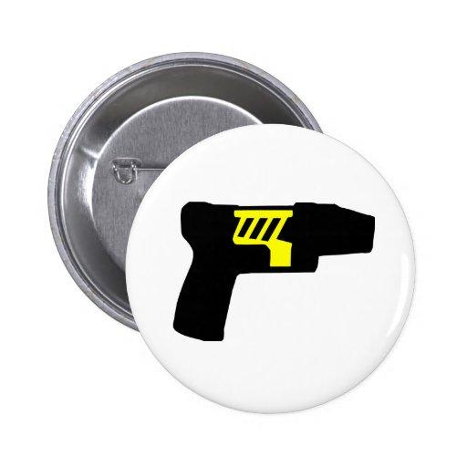 Tazer Gun Pinback Button