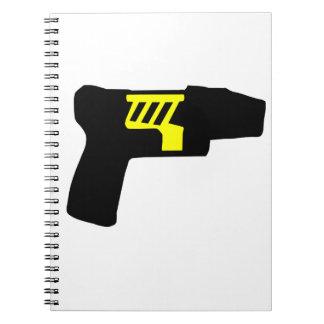 Tazer Gun Spiral Note Books
