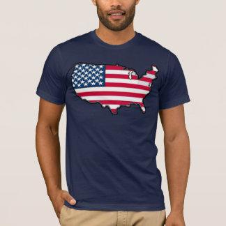 TBA AWARD WINNER American Map Flag T-Shirt