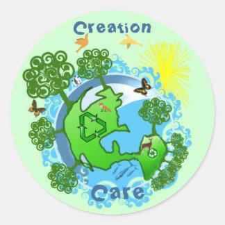 TBA AWARD Winner customized-Creation Care Classic Round Sticker