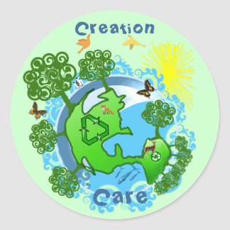 TBA AWARD Winner customized-Creation Care Round Sticker