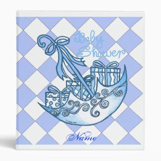 TBA Blue Boy Baby Shower 3 Ring Binder