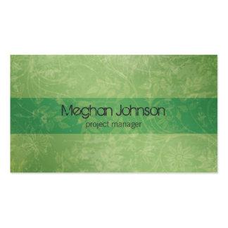 {Tba} Carte de visite à la mode vert floral grunge