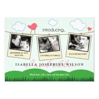 {TBA} Clothesline Polaroids Birth Announcement