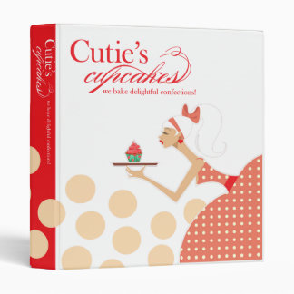 ::TBA:: Cutie's Cupcakes Confectionary Recipes 3 Ring Binder
