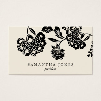 {TBA} damask floral calling card