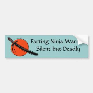 {TBA} Farting Ninja Warrior Silent but Deadly Bumper Sticker