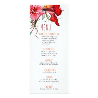 ::TBA:: Flora Botanica Flowers Wedding Menu Card
