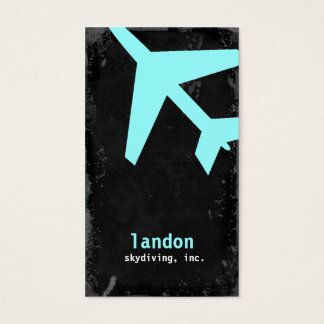 TBA-GC   AVIATION TAKE OFF BLUE BUSINESS CARD