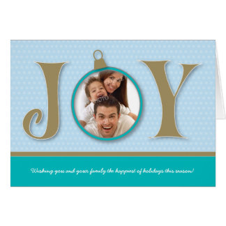 {TBA} Holiday Joy Family Holiday Card (aqua)