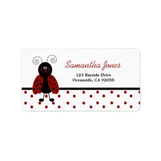 {TBA} LoveBug Black Dot Address Label