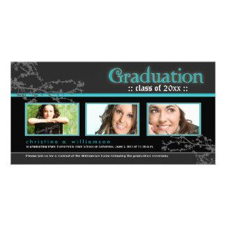 TBA Mystic Goth Graduation Announcement aqua Picture Card