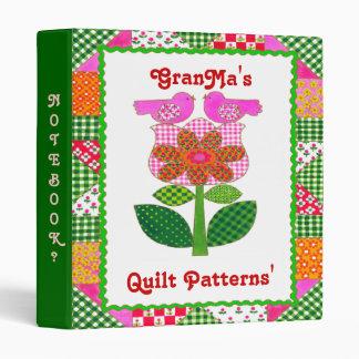 TBA Red Ribbon Award GranMa's Quilt Pattern Binder