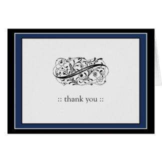 {TBA} Simply Elegant Custom Thank You (navy/black) Card
