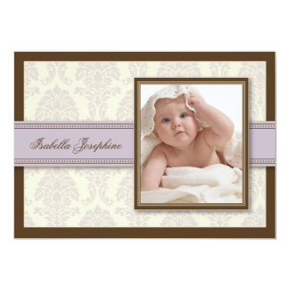 {TBA} Sweet Damask Chocolate Birth Announcement